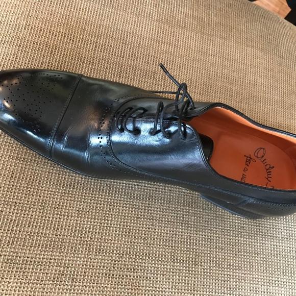 Mens Size 9 Santoni Black Dress Shoes